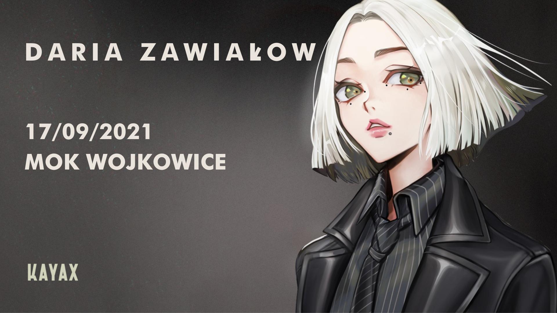 slider do koncertu Darii Zawiałow, 17.09.2021 MOK Wojkowice