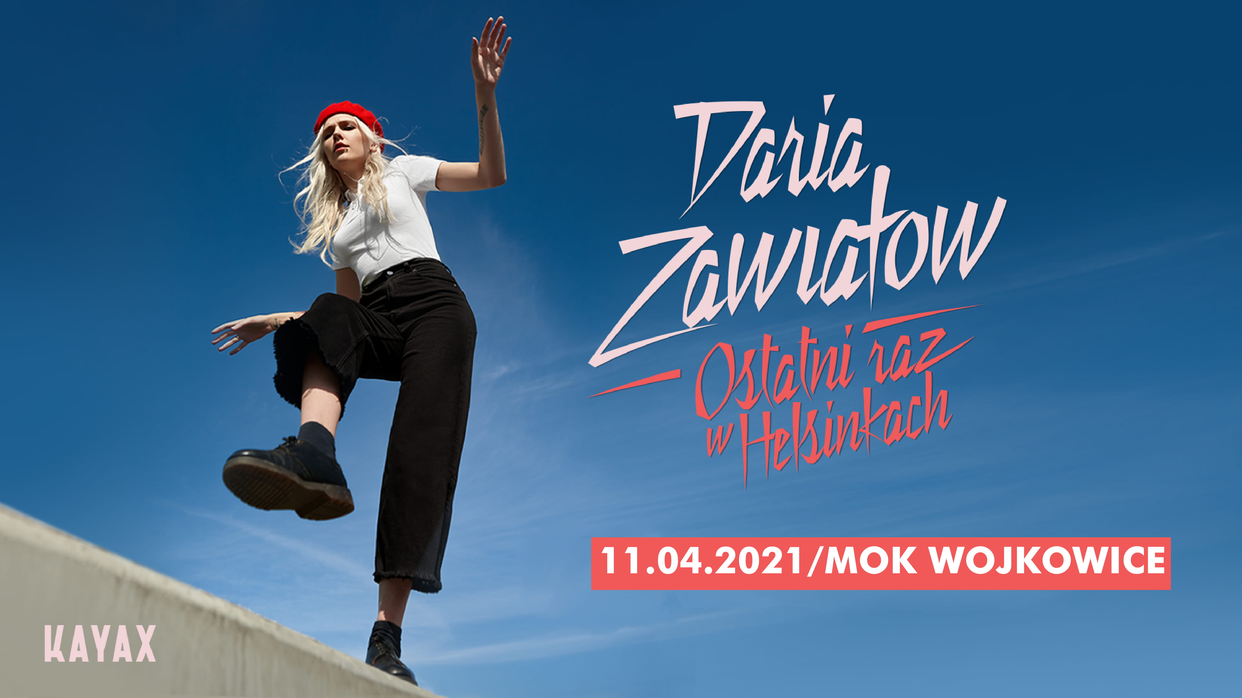 Slider do koncertu Darii Zawiałow 11 kwietnia 2021 roku