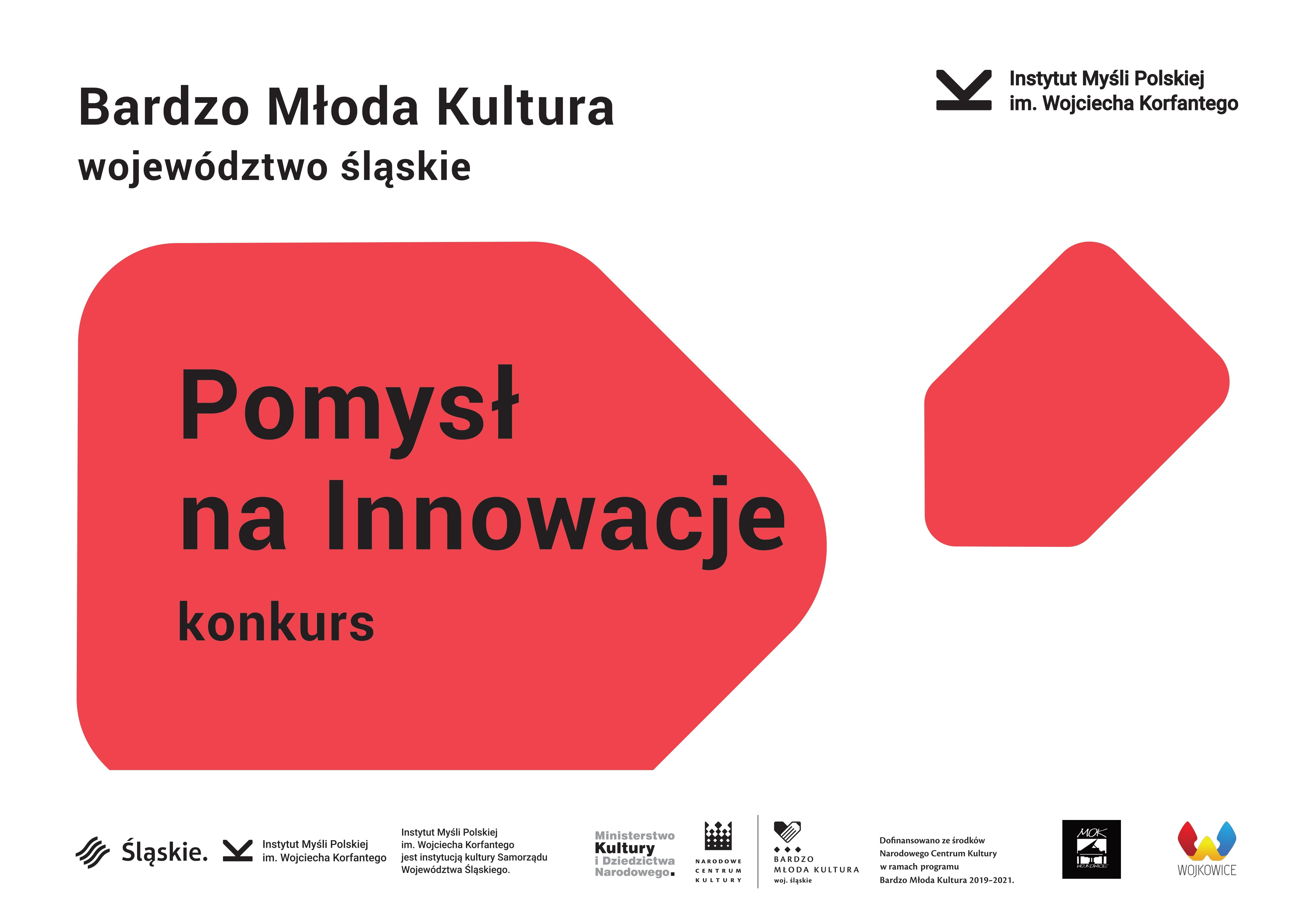 """Slider do konkursu """"Pomysł na innowacje"""" w ramach projektu Bardzo Młoda Kultura 2020"""