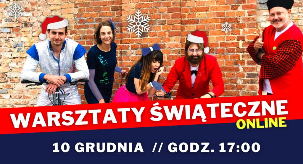 Slider do wydarzenia online Warsztaty Świąteczne dla dzieci w wieku 5-12 lat 10 grudnia 2020 o godzinie 17.00