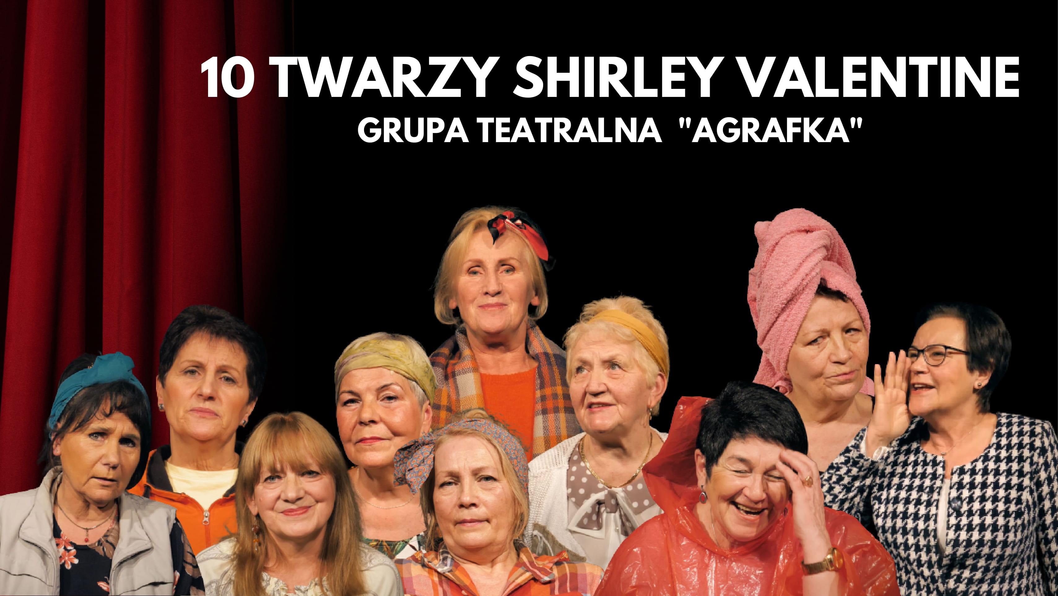 zdjęcie grupowe aktorek grupy teatralnej agrafka do projektu 10 twarzy shirley valentine