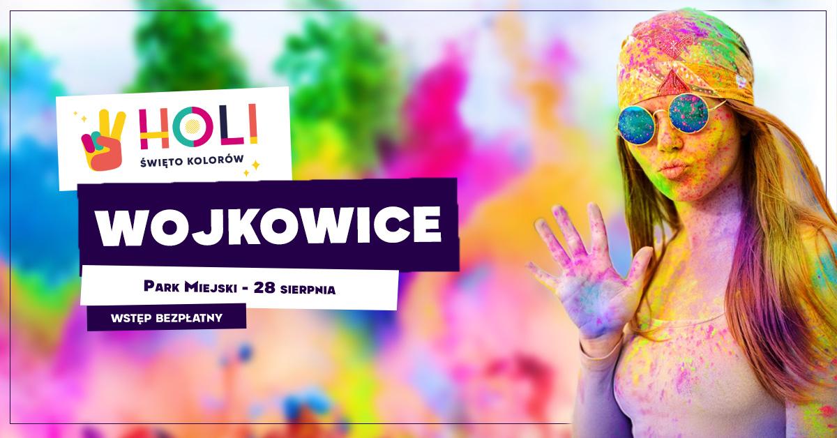 """slider do wydarzenia """"Holi - święto kolorów"""" 28 sierpnia, Wojkowice, Park Miejski, teren po byłej muszli koncertowej"""