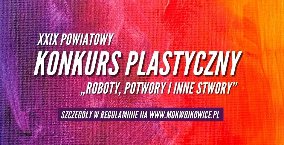 Plakat na XXIX Powiatowy Konkurs Plastyczny