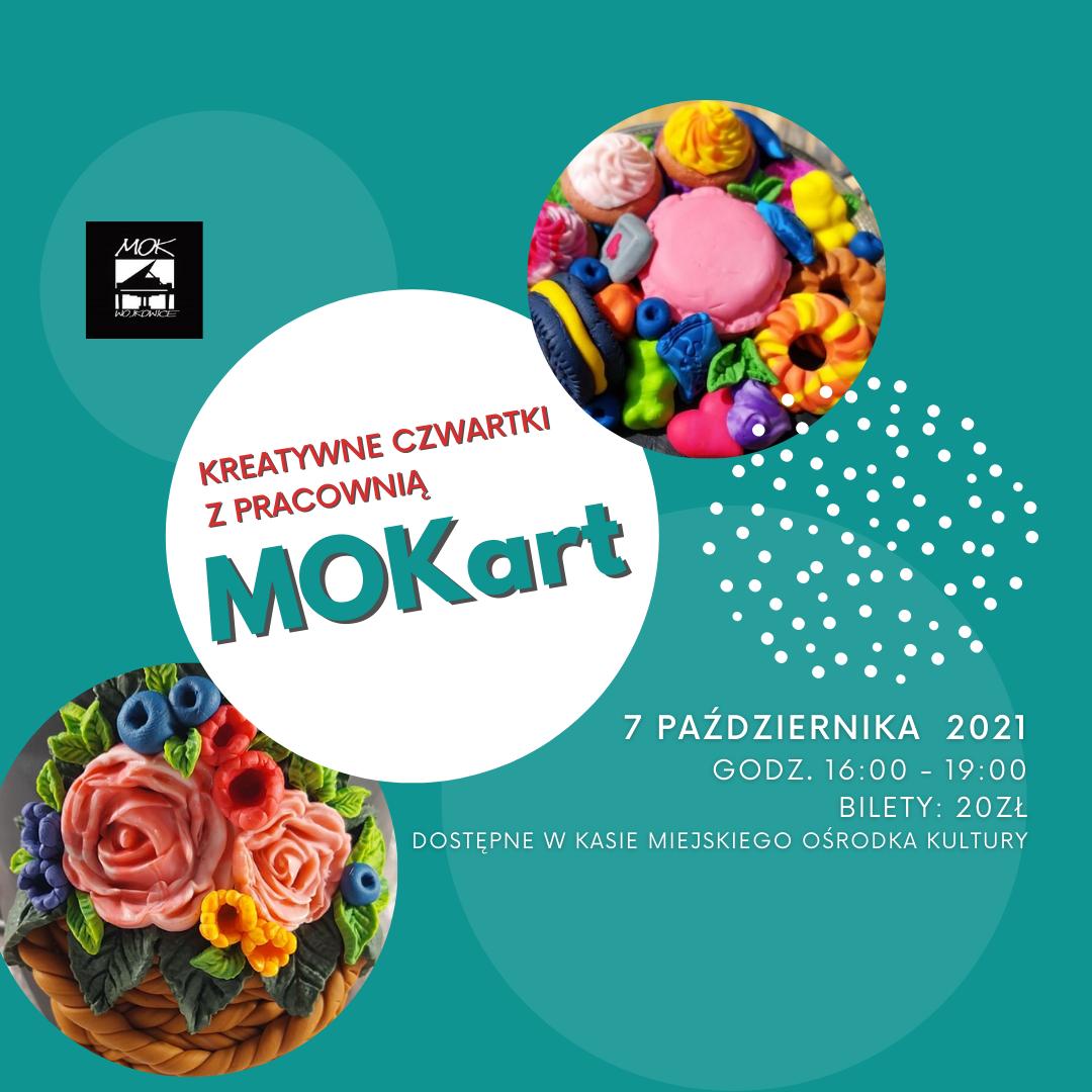 Plakat na pierwsze zajęcia pracowni MOKart
