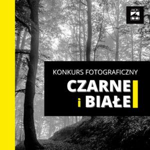 """Plakat do konkursu fotograficznego """"Czarne i białe"""" MOK Wojkowice"""